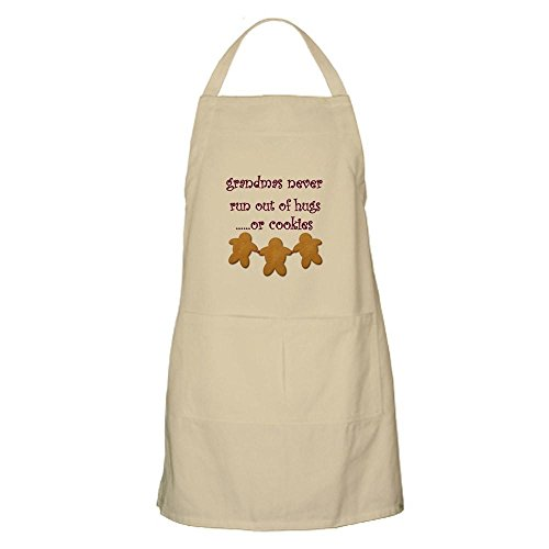 CafePress - Grandmas never run out of hugs BBQ Apron - Kitchen Apron with Pockets Grilling Apron Baking Apron