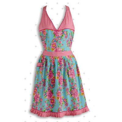 Floral and Polka Dot Apron
