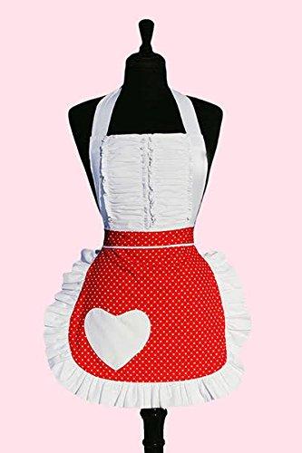 Sexy Vintage Red and White Polka Dot Retro Apron