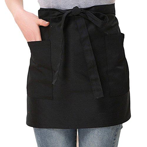 NanxsonTM new unisex short bistro apron hotel chef apron AL8029 black