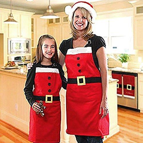 Christmas Kitchen Apron 295 x 24 Cute Women Ruffle Apron for Holidays Hostess and Housewarming Gift