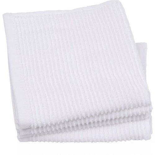Now Designs Ripple Kitchen Dishcloth Set of 4 White