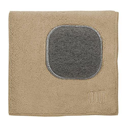 MUkitchen 12 x 12 Microfiber Dishcloth Flax - Set of 2