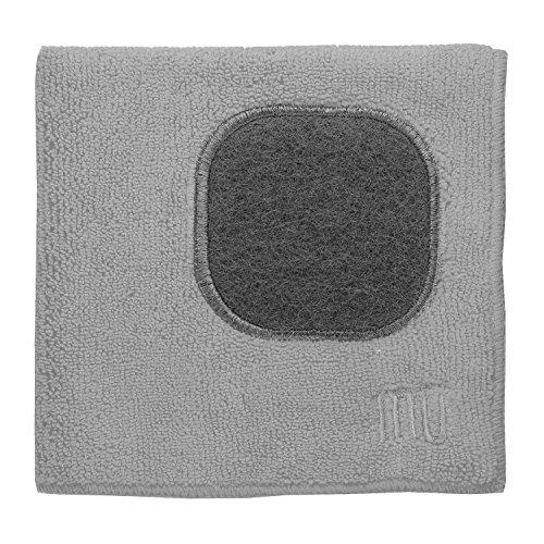 MUkitchen 12 x 12 Microfiber Dishcloth Nickel - Set of 2