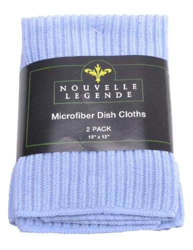 Microfiber Dish Cloths Pearl Weave 2-pack Light Blue