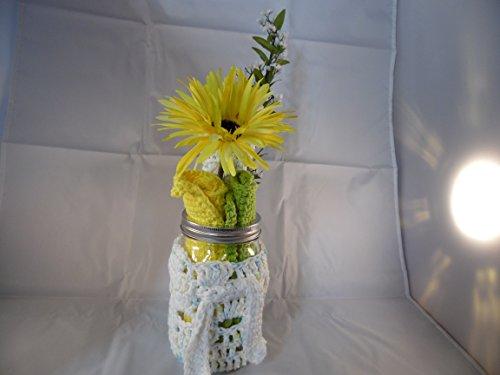 Kitchen Gift Set Dishcloths Mason Jar cozy Bottle Scrubber Crochet Dishcloth