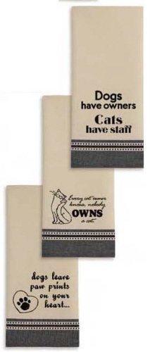 Pet Lovers Printed Dishtowels Set of 3