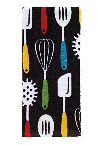 T-Fal Textiles 100 Cotton Fiber Reactive Printed Kitchen Dish Towel 19 x 28 Utensil Print