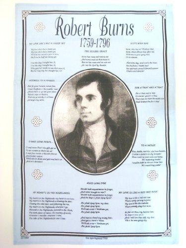 100 Cotton Scottish Tea  Dish Towel - Robert Burns 1759 - 1796