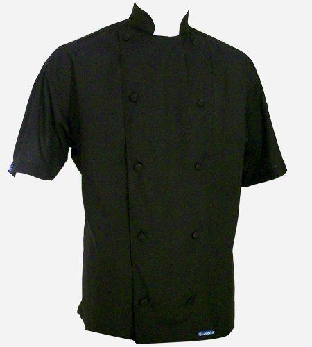 Chefskin Xs 40 Black Chef Jacket Super Lightweight Hat