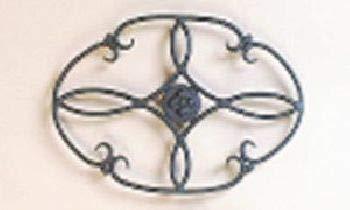 OKSLO 7 x 10 wrought iron trivet clover