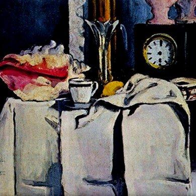 The Black Marmour By Paul Cezanne Tile Trivet