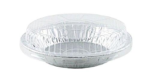 6 Aluminum Foil Pie Pan 1516 Deep wClear Dome Lids Disposable Tin Plates