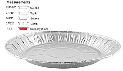 8 Aluminum Foil Pie Medium Disposable Tin Baking Plates  4002