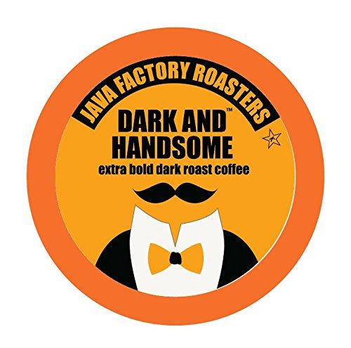 Java Factory Single Cup Coffee for Keurig K Cup Brewers Dark and Handsome Dark Roast 40 Count