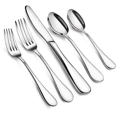 Artaste 56389 Rain 1810 Stainless Steel Flatware 20 Piece Set Service for 4 Silver