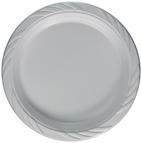 Blue Sky 200 Count Disposable Plastic Plates 9 Inch White