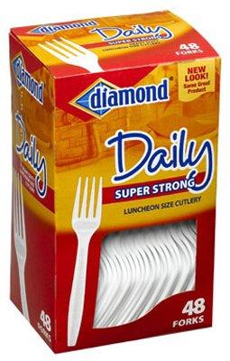 Diamond 41426-00115 Heavy Duty Plastic Forks 48 Count