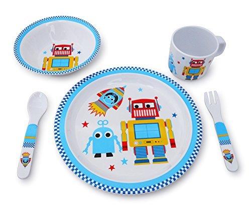 Culina Kids Melamine Dinnerware - Robot Set of 5