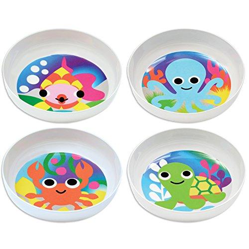 French Bull - BPA Free Kids Bowls - Melamine Kids Bowl Set - Kids Dinnerware - Ocean Set of 4
