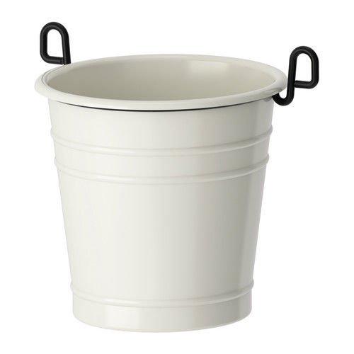 White Cutlery Caddy Plant Pot Utensil Organizer