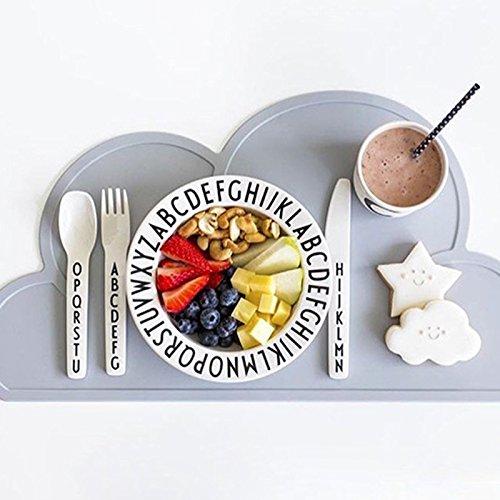Bren SL Letters Plates Snacks Fruit Alphabet Plate Kid Melamine Baby Fedding Dinner Tableware Children Dishes
