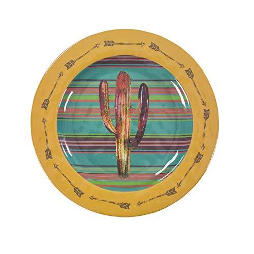 HiEnd Accents DI1756DP04 Cactus Southwestern 4-PC Melamine Dinner Plate Set 11 diameter
