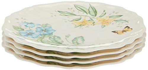 Lenox Butterfly Meadow Melamine Dinner Plates Set of 4 White - 856373