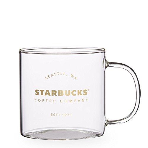 Starbucks Seattle Pike Place Heritage Glass Mug 18 fl oz