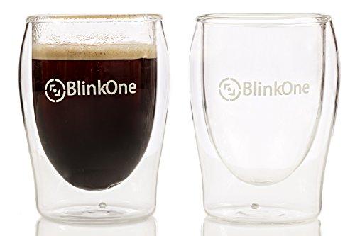 BlinkOne Espresso Cups Coffee Shot Glasses 2 Pcs