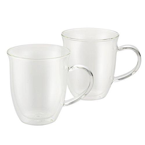 BonJour Coffee Insulated Borosilicate Glass Espresso Cups 2-Piece Set 6-Ounces Each by BonJour