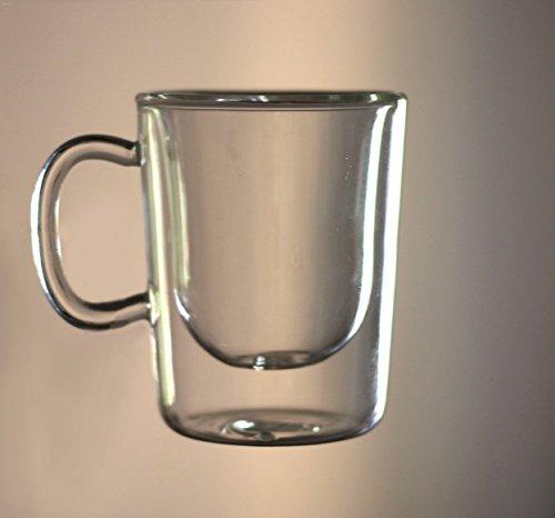 Luigi Bormioli Ethiopia Double Wall Glass Espresso Coffee Cup Set of 2