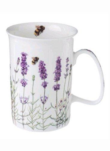 Ashdene I Love Lavender Bone China 8-Ounce Can Shape Mug in Gift Box