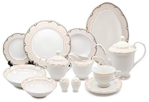 Royalty Porcelain Vintage Antique Gold 57-pc Dinnerware Set Sandra Premium Bone China