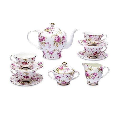 Classic Roses Bone China Tea Set-11 pcs