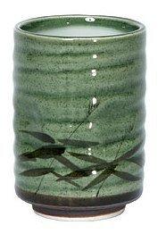 8 oz Japanese Tea Cup Green Sasa