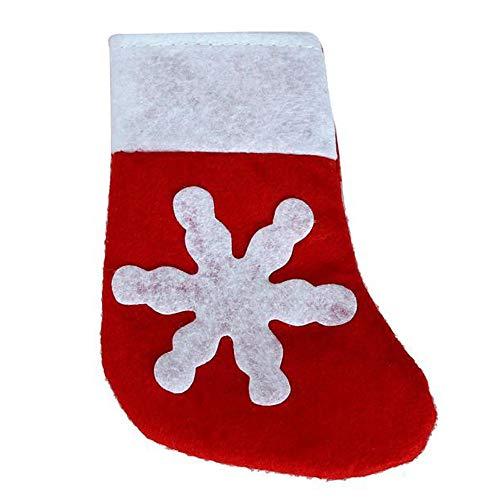 Alalaso Christmas Cutlery Holder Fork Spoon Pocket Christmas Decor Bag Red