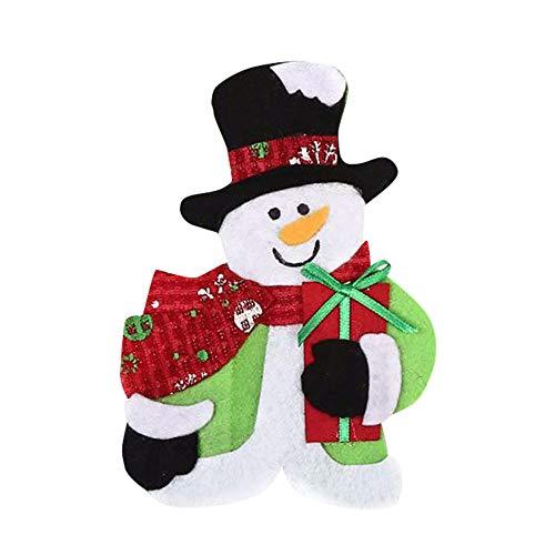 Christmas Cutlery Holder Pockets Witspace Xmas Banquet Knife Fork Pocket Resuable SilverwareGiftSweet Bag 61B Snowman 16×11cm