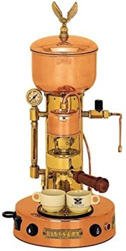 Microcasa Semiautomatica Commercial Espresso Machine Finish Copper and Brass