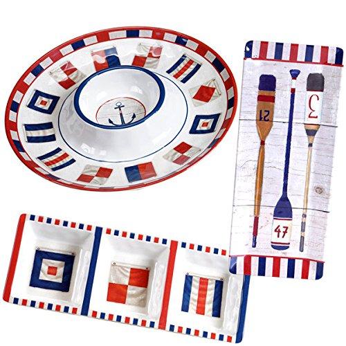 Multicolored Nautique Melamine Serving Set Pack of 3