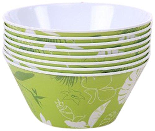 SHALL Housewares 612405G S8 8 Piece Melamine Serving Bowl Set 8 18 oz Multicolored