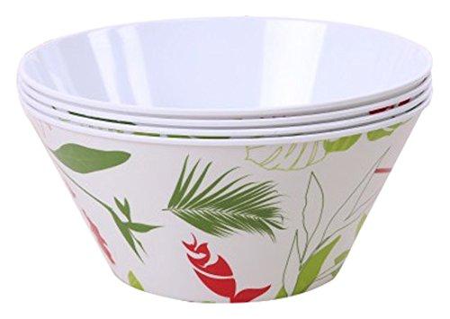 SHALL Housewares 612410W S4 4 Piece Melamine Serving Bowl Set 4 90 oz Multicolored