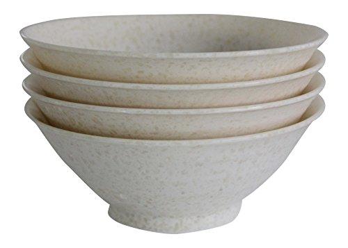 SHALL Housewares 65608W S4 4 Piece Melamine Serving Bowl Set 4 Multicolored