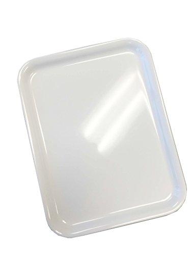 SHALL Housewares 811712W S4 4 Piece Melamine Serving Tray Set 4 White
