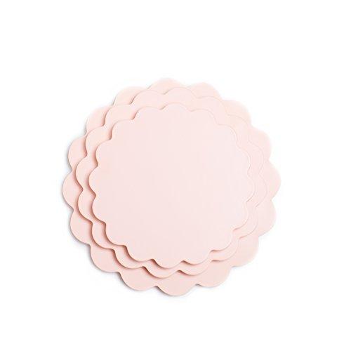 Sugar Cloth Peach Scallop Melamine Serving Set 3-Piece