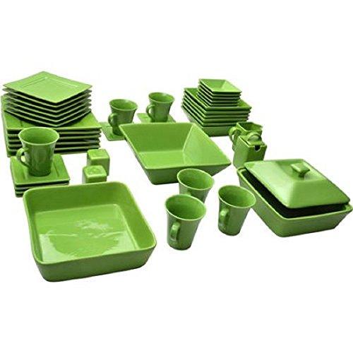 10 Strawberry Street Nova Square Banquet 45-Piece Dinnerware Set Teal