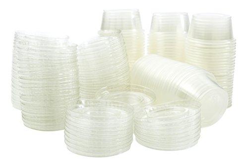 2 oz Jello Shot Plastic Tumbler Cups with Lids TranslucentClear 500 Pcs