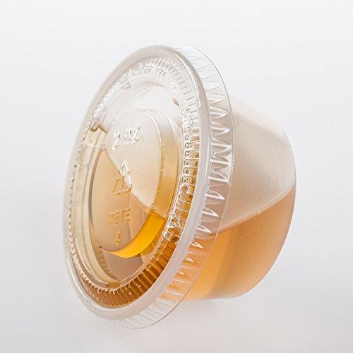 TashiBox Plastic Jello Shot Cups with Lids 2-Ounce 200 Sets