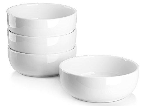 Lifver 20oz6 inch Porcelain SoupCereal Bowls Set Round White Set of 4