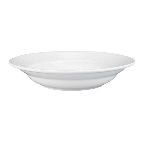 BIA Bistro White Porcelain 10 Ounce Rim Soup Plate